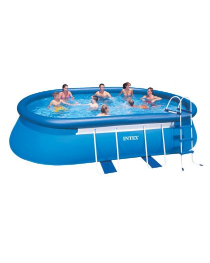 128192 - Oval Frame Pool Set 549 x 305 x 107 cm