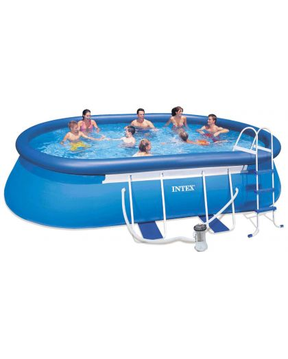 128192GS - Oval Frame Pool Set 549 x 305 x 107 cm